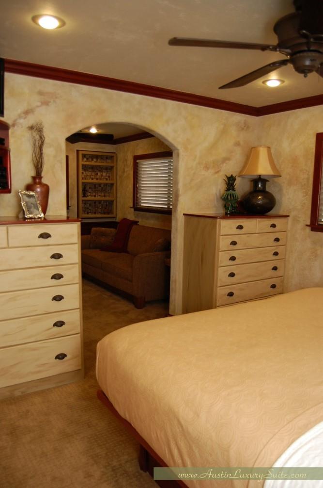 master bedroom has ample storage